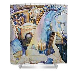 Neptune's Sea Horses - Florence Shower Curtain