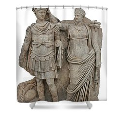 Nero And His Mother Agrippina Shower Curtain by Tracey Harrington-Simpson