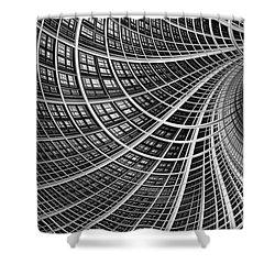 Network II Shower Curtain by John Edwards