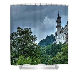 Shower Curtain featuring the photograph Neuschwanstein Castle by Joe  Ng