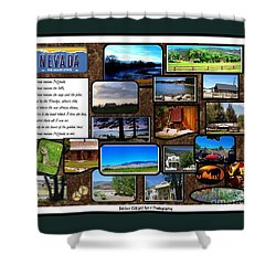 Shower Curtain featuring the photograph Nevada Collage by Bobbee Rickard