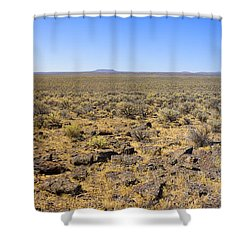 Shower Curtain featuring the photograph Nevada Desert Panorama by Mark Greenberg