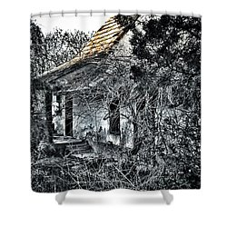 Never Again... Shower Curtain by Marianna Mills
