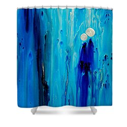 Shower Curtain featuring the painting Never Alone By Sharon Cummings by Sharon Cummings