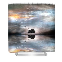 Never Alone Shower Curtain by Jacky Gerritsen
