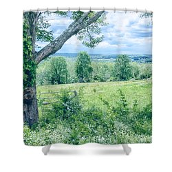 Never Ending Fields Shower Curtain by Karol Livote