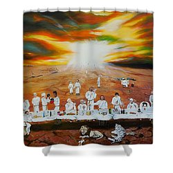 Never Ending Last Supper Shower Curtain