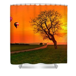 Never Ending Road Shower Curtain