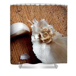 Shower Curtain featuring the digital art Never Enough Garlic by Aliceann Carlton