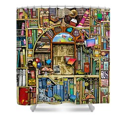 Neverending Stories Shower Curtain by Colin Thompson