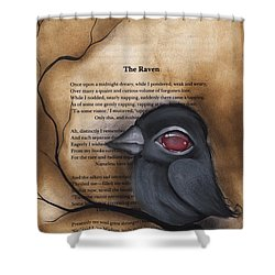 Nevermore #1 Shower Curtain