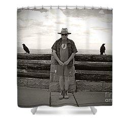 Nevermore Shower Curtain by Meghan at FireBonnet Art