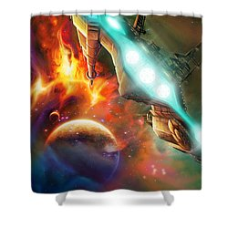 Nevtar Stardrive Shower Curtain by James Christopher Hill