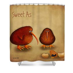 New Arrival. Kiwi Bird - Sweet As - Boy Shower Curtain