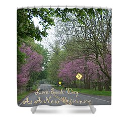 Shower Curtain featuring the photograph New Beginning by Aimee L Maher Photography and Art Visit ALMGallerydotcom