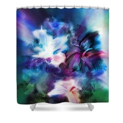 Shower Curtain featuring the digital art New Bouquet by Frank Bright