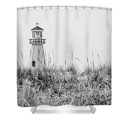 New Buffalo Lighthouse In Southwestern Michigan Shower Curtain