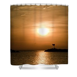 New Buffalo Sunset Shower Curtain
