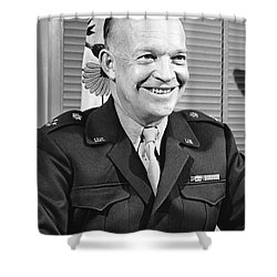 New Chief Of Staff Eisenhower Shower Curtain by Underwood Archives