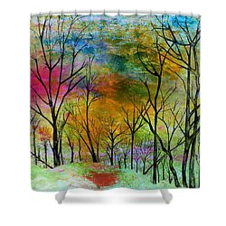 New Dawn New Day New Life Shower Curtain by Janet Immordino