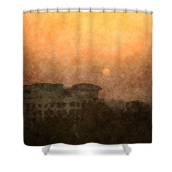 New Delhi Sunset Shower Curtain