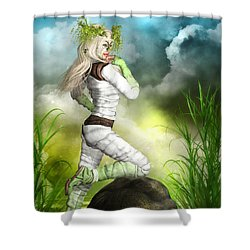 New Earth 3014 Shower Curtain
