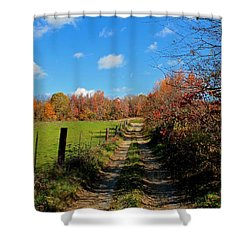 New England Farm Rota Springs Shower Curtain