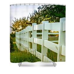 New England Fenceline Shower Curtain