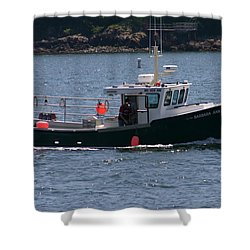 Shower Curtain featuring the photograph New England Fishing Boat by Denyse Duhaime