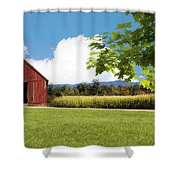 New Hampshire Barnyard Shower Curtain