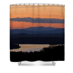 New Hampshire Sunset Shower Curtain