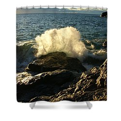 Shower Curtain featuring the photograph New Heights by James Peterson