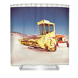 New Holland 910 Windrower Shower Curtain by Yo Pedro