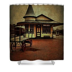 Shower Curtain featuring the photograph New Hope Ivyland Train Station by Debra Fedchin