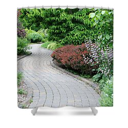 Shower Curtain featuring the photograph Frelinghuysen Arboretum Path by Richard Bryce and Family