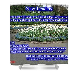 New Leaders Shower Curtain