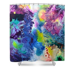 New Life Shower Curtain by Sally Trace