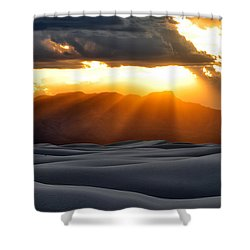 Shower Curtain featuring the photograph New Mexico Desert by Brian Spencer