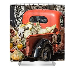 New Mexico Fall Harvest Truck Shower Curtain by Steven Bateson