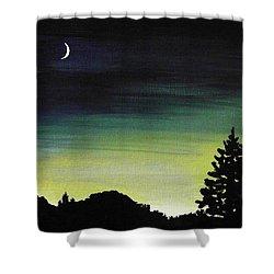 New Moon Shower Curtain by Anastasiya Malakhova