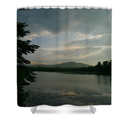 Shower Curtain featuring the photograph New Morning On Lake Umbagog  by Neal Eslinger