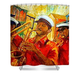 New Orleans Brass Band Shower Curtain