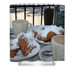 New Orleans Breakfast Shower Curtain