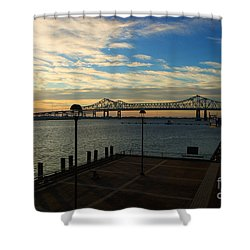 Shower Curtain featuring the photograph New Orleans Bridge by Erika Weber