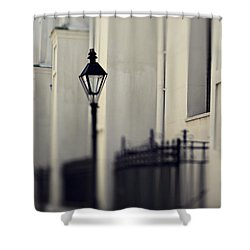 New Orleans Cathedral Street Lamp Shower Curtain