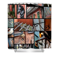 New Orleans Collage 2 Shower Curtain by Carol Groenen