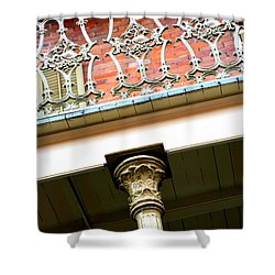 New Orleans Column Shower Curtain by Carol Groenen
