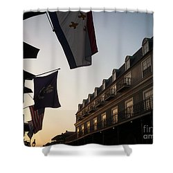 Evening In New Orleans Shower Curtain by Valerie Reeves