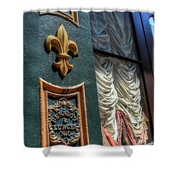 New Orleans Fleur-de-lis Shower Curtain by Timothy Lowry