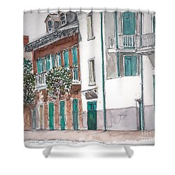 New Orleans Gov. Nichols And Royal St Shower Curtain by Anthony Butera